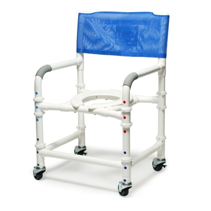 """18"""" PVC Knock-Down Shower Commode Chair"""