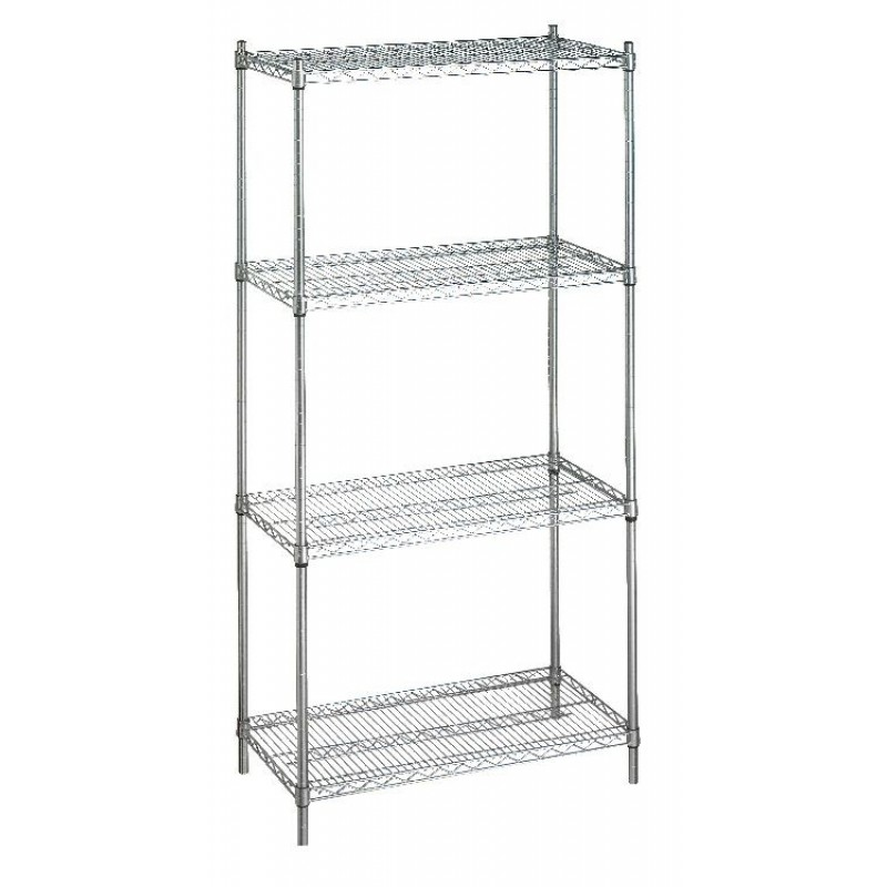 Wire Shelving Casters | R B Wire Shelving Unit 24 X60 X72 Without Casters 4 Wire