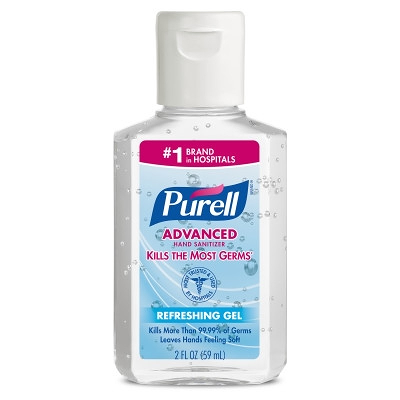 Purell Advanced Instant Hand Sanitizer 2 fl oz Personal Squeeze Bottle with Flip Top