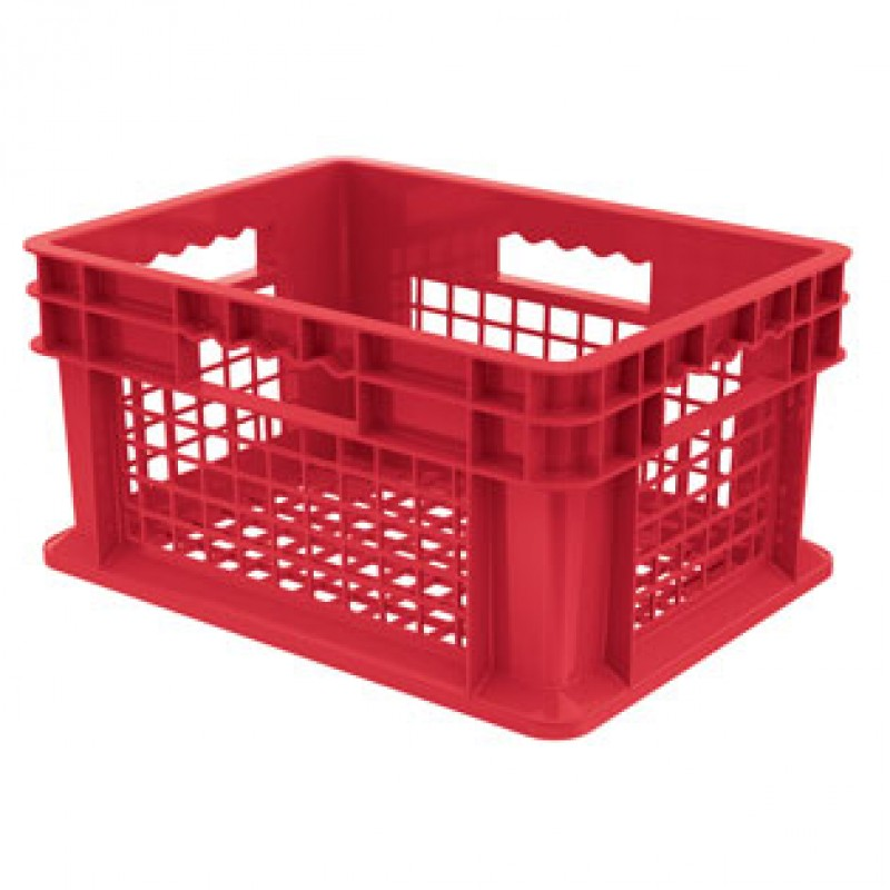 """Mesh Side/ Solid Base Container, 23 3/4""""L x 15 3/4""""W x 8 1/4""""H"""