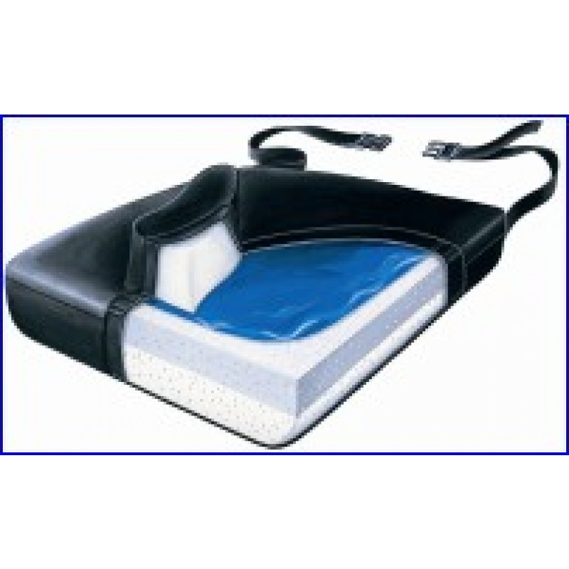 "Slide-Guard Cushion, Gel-Foam, Soft Foundation with Vinyl and Low-Shear Cover, 18"" x 16"" x 2½"""