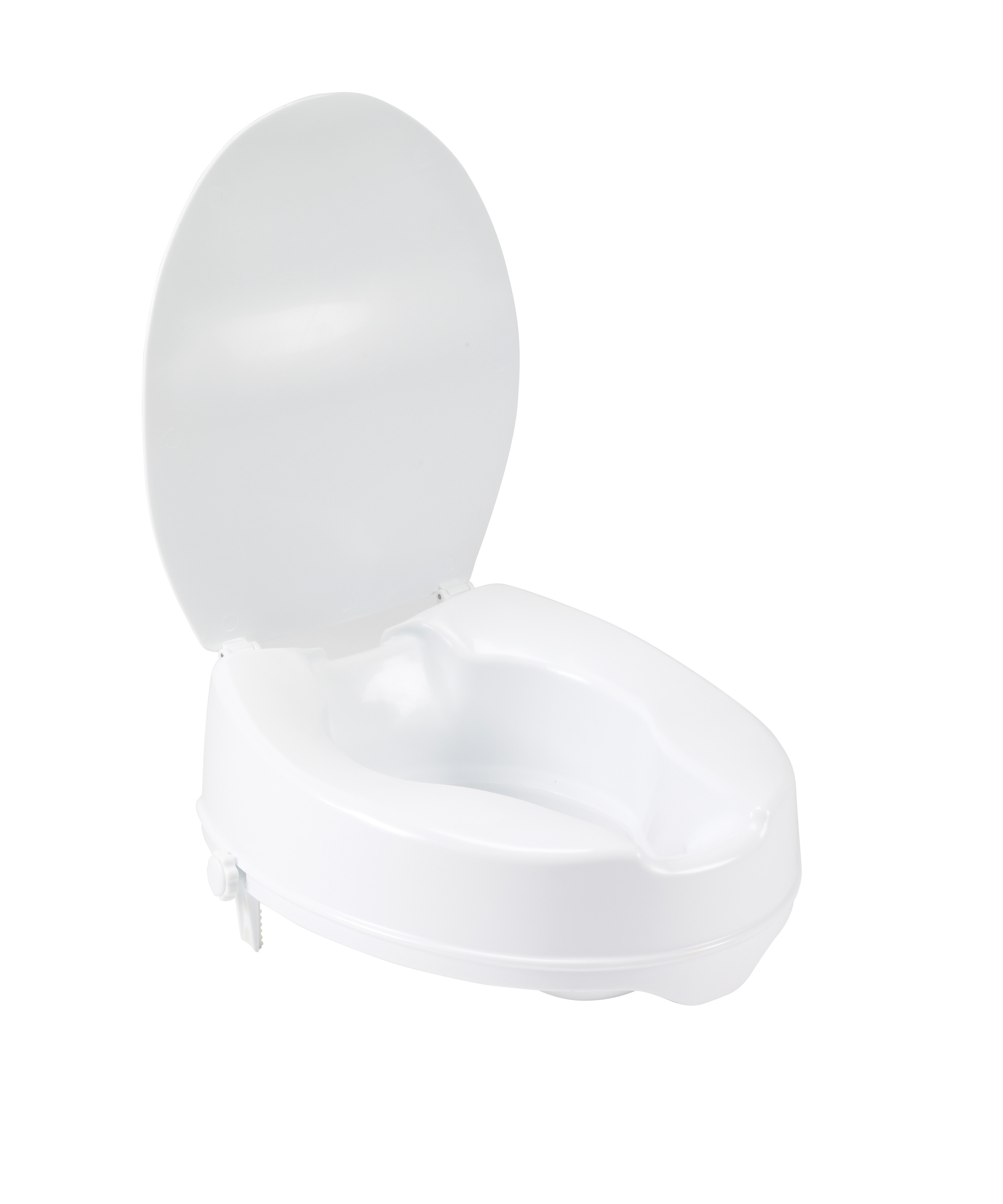 Stupendous Raised Toilet Seat With Lock And Lid 2 Open Box Special Gmtry Best Dining Table And Chair Ideas Images Gmtryco