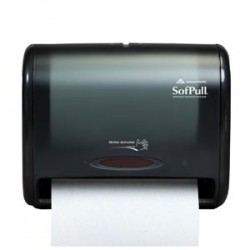 SofPull Black Automatic Touchless Towel Dispenser