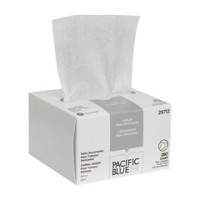 AccuWipe Recycled 1 Ply Disposable Delicate Task Wiper Small White