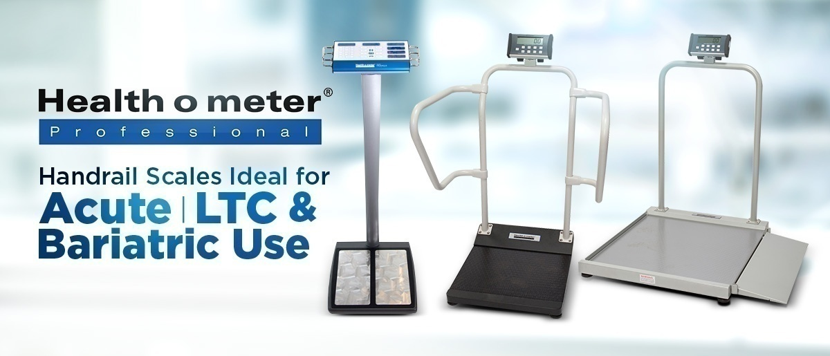 Health O Meter Handrail Scales Ideal for Acute, LTC and Bariatric Use